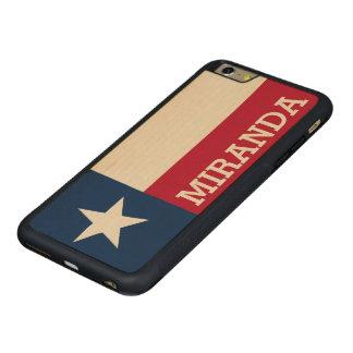 テキサス州の名前入りな旗 CarvedメープルiPhone 6 PLUSバンパーケース