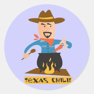 テキサス州の唐辛子 ラウンドシール