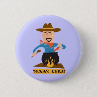 テキサス州の唐辛子 5.7CM 丸型バッジ