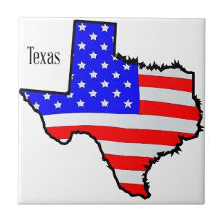 テキサス州の地図および旗 タイル