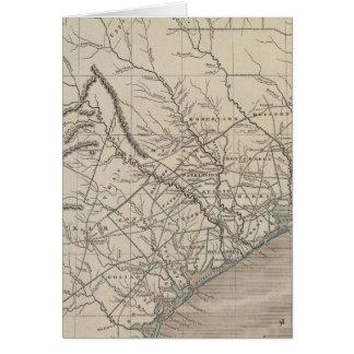 テキサス州の地図書の地図 カード