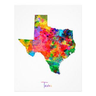 テキサス州の地図 チラシ