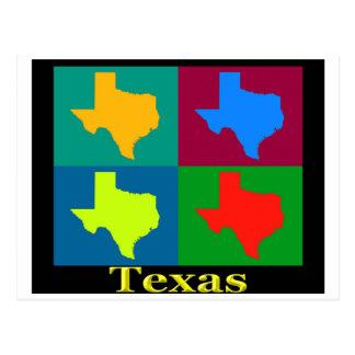 テキサス州の地図 ポストカード