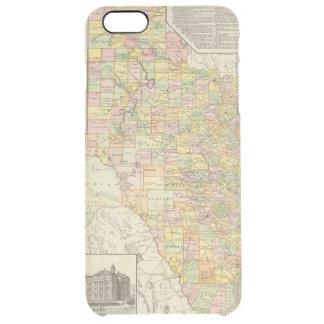 テキサス州の大規模郡そして鉄道地図 クリア iPhone 6 PLUSケース