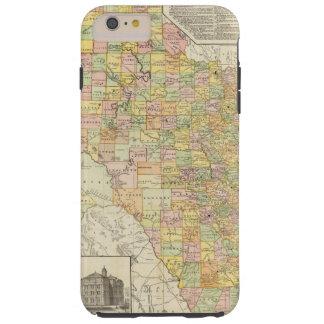 テキサス州の大規模郡そして鉄道地図 TOUGH iPhone 6 PLUS ケース