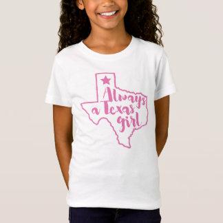 テキサス州の女の子のピンクの常にTシャツ Tシャツ