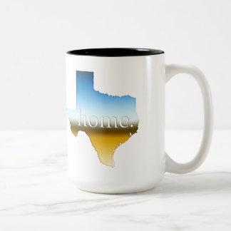 テキサス州の家の地平線 ツートーンマグカップ