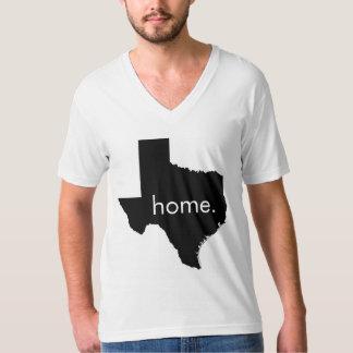 テキサス州の家のV首 Tシャツ