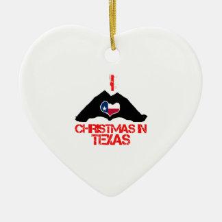 テキサス州の州のクリスマスのデザイン セラミックオーナメント