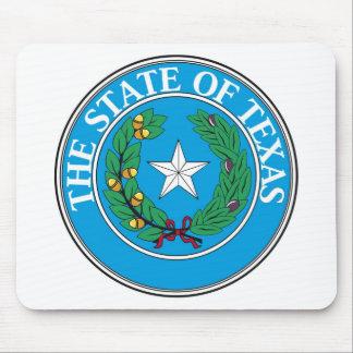 テキサス州の州のシールおよびモットー マウスパッド
