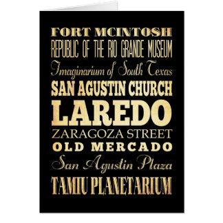 テキサス州の州のタイポグラフィの芸術のラレド都市 カード