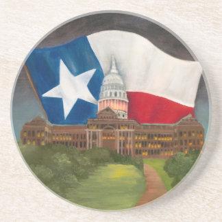 テキサス州の州の国会議事堂の元の賞獲得のアートワーク コースター