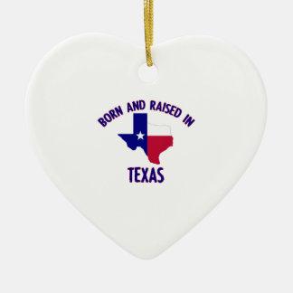 テキサス州の州の旗および地図のデザイン セラミックオーナメント