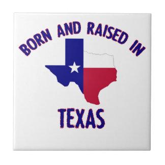 テキサス州の州の旗および地図のデザイン タイル