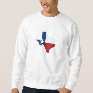 テキサス州の州の旗および地図の形 スウェットシャツ