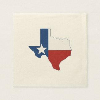 テキサス州の州の旗および地図 スタンダードカクテルナプキン