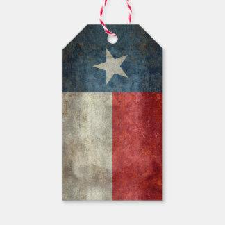 テキサス州の州の旗のヴィンテージのレトロのスタイルのギフトは付きます ギフトタグ