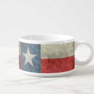 テキサス州の州の旗のヴィンテージのレトロのスタイルのチリボウル チリボウル