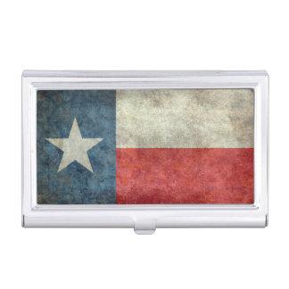 テキサス州の州の旗のヴィンテージのレトロのスタイルの帯出登録者 名刺入れ