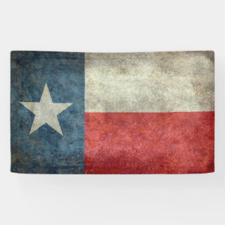 テキサス州の州の旗のヴィンテージのレトロのスタイルの旗 横断幕