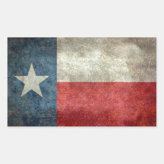 テキサス州の州の旗のヴィンテージのレトロのスタイル 長方形シール