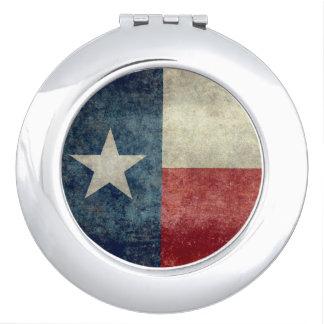 テキサス州の州の旗のヴィンテージのレトロの密集した鏡
