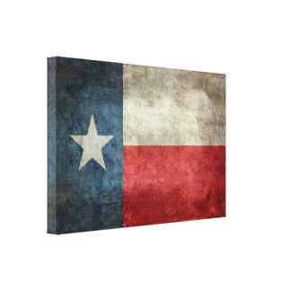 """テキサス州の州の旗レトロの24.00"""" x 16.00""""キャンバス キャンバスプリント"""