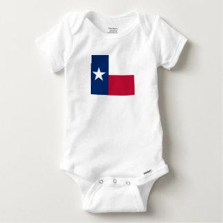 テキサス州の州の旗-高品質で確実な色 ベビーワンシー