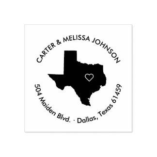 テキサス州の州の移動発表の住所スタンプ ラバースタンプ