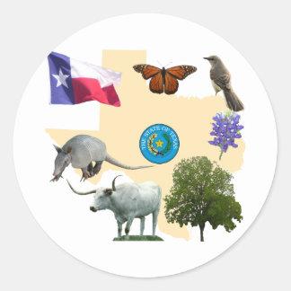 テキサス州の州記号 ラウンドシール