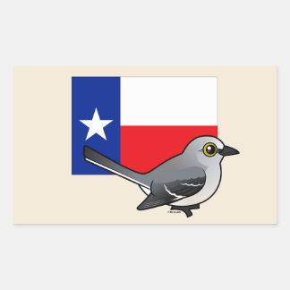 テキサス州の州Birdorable: 北のマネシツグミ 長方形シール