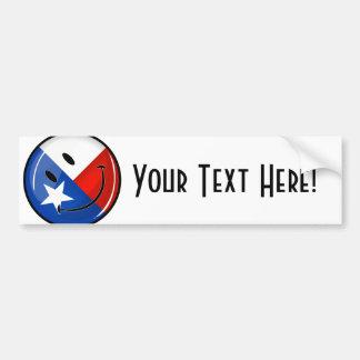 テキサス州の微笑の旗 バンパーステッカー