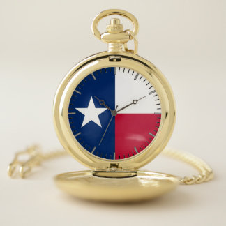 テキサス州の愛国心が強い壊中時計の旗、米国 ポケットウォッチ