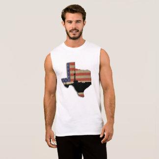 テキサス州の愛国心が強い石油開発の装備 袖なしシャツ