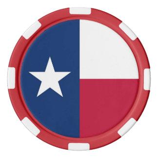 テキサス州の旗が付いているポーカー用のチップ カジノチップ