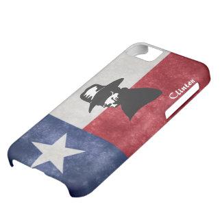 テキサス州の旗のカウボーイのiPhoneの場合 iPhone5Cケース
