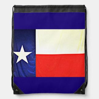 テキサス州の旗のドローストリングのバックパック ナップサック