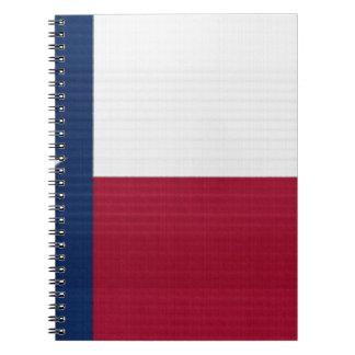 テキサス州の旗の単独星の州の赤白青色 ノートブック