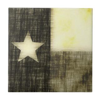 テキサス州の旗の古いスケッチ タイル