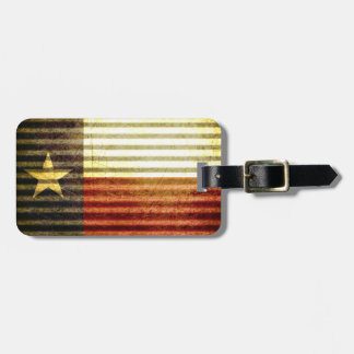 テキサス州の旗の古い錫の屋根のギア ラゲッジタグ
