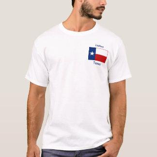 テキサス州の旗の地図都市Tシャツ Tシャツ