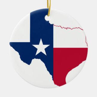 テキサス州の旗の地図 セラミックオーナメント