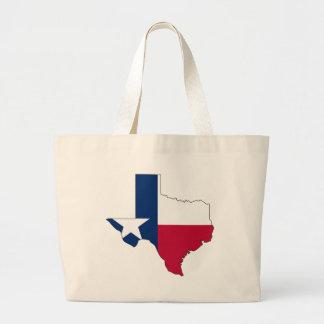 テキサス州の旗の地図 ラージトートバッグ