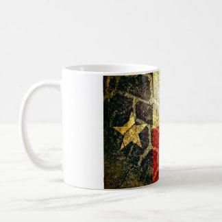 テキサス州の旗の泥のタイヤ コーヒーマグカップ