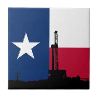 テキサス州の旗の石油開発の装備 タイル