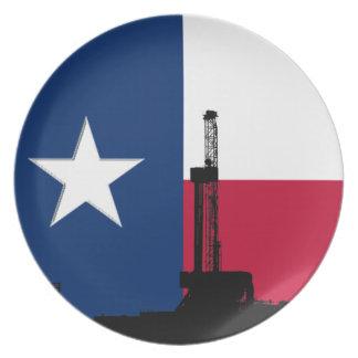 テキサス州の旗の石油開発の装備 プレート