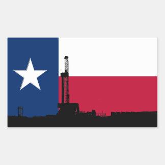 テキサス州の旗の石油開発の装備 長方形シール