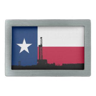 テキサス州の旗の石油開発の装備 長方形ベルトバックル