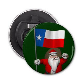 テキサス州の旗を持つサンタクロース 栓抜き