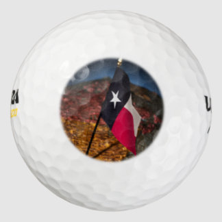 テキサス州の旗2 ゴルフボール